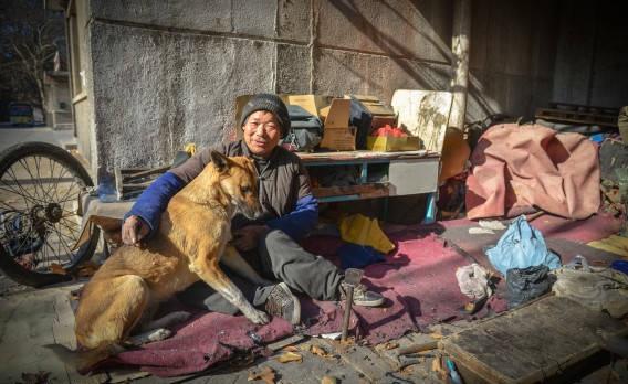 Señor Fu con su perro