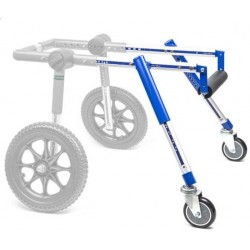 Front accessory for dog wheelchair wheels