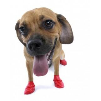 Canine rubber footwear