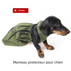 Manteau protecteur pour chien